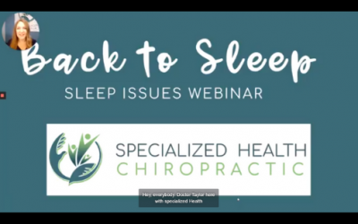 Back to Sleep: Sleep Issues Webinar